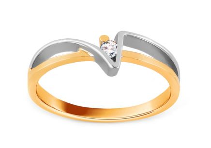 Verlobungsring Of love mit Brillanten 0,030 ct
