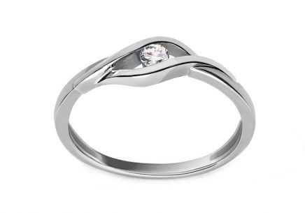 Diamantring Suzzi 0,08 ct white