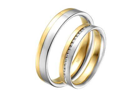 Eheringe mit Diamanten 0,100 ct Yasmine diamonds 4 mm