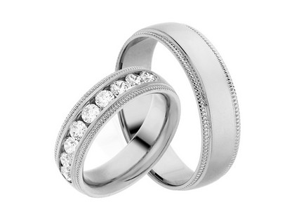 Eheringe mit Diamanten 0,900 ct Yasmine diamonds 6 mm