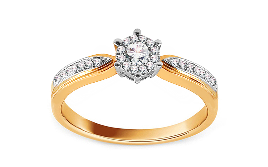 Gold Verlobungsring mit Diamanten 0,200 ct Hannie