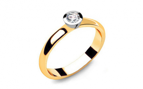 Gold Verlobungsring mit einem Diamanten 0,150 ct Power Of Love 6