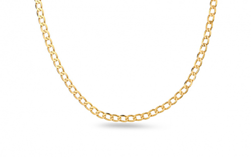 Goldkette Flat curb 3,7 mm - IZ8244