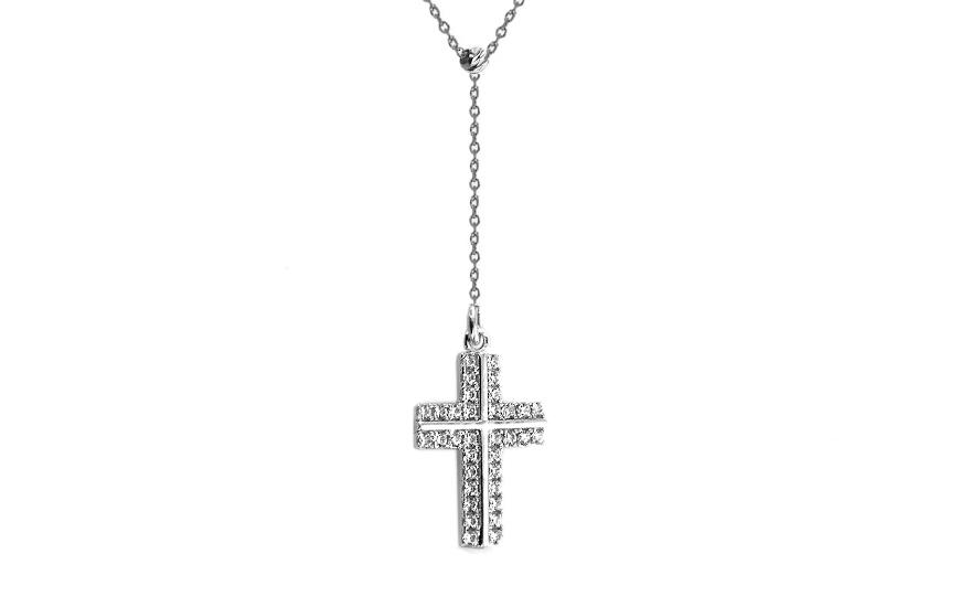Goldkette damen kreuz  Goldkette mit dem Anhänger Kreuz, für Damen (IZ7755)   gSchmuck.de