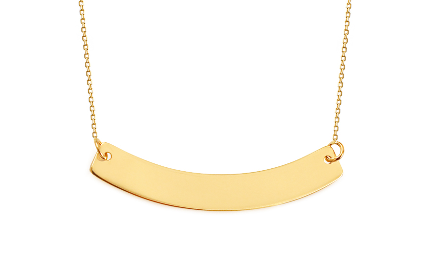 Goldkette damen gravur