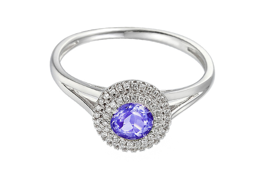 Goldring  Goldring mit Diamanten und Tansanit Charlotte, für Damen ...