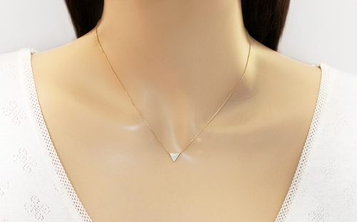 Goldset mit Diamanten 0,110 ct Triangle - IZBR534S