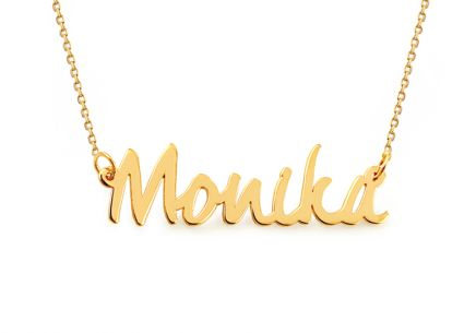 Goldkette mit Namen Monika