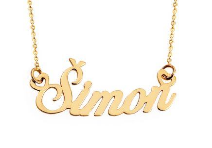 Goldkette mit Namen Simon