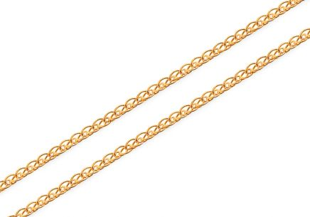 Gold Doppelkette Gliederkette 1 mm