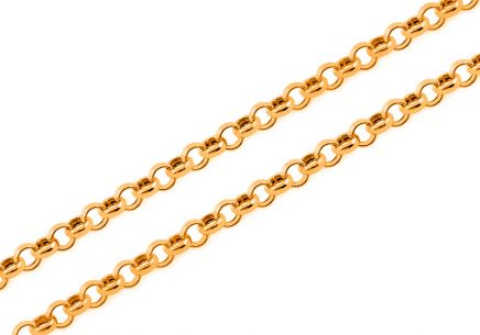 Goldkette Rolo 1 mm