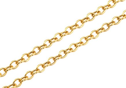Gold Kette rolo 1,5 mm