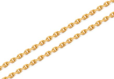 Damen Goldhalskette Cable Chain