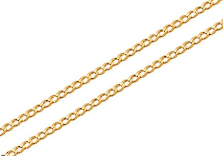 Gold solide Kette Pancier 1,5 mm