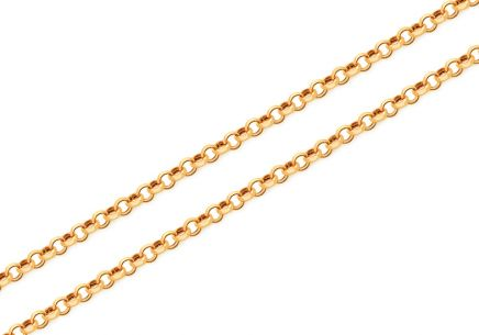 Goldkette Solid rolo 1,5 mm