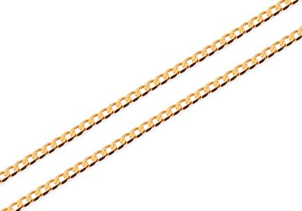 Herren Goldkette Curb 1,4 mm