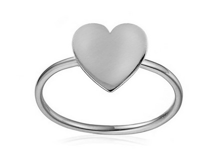 Ring aus Weißgold Simple Heart