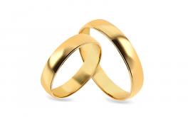 Klassische Eheringe kombiniertes Gold Breite 5 mm