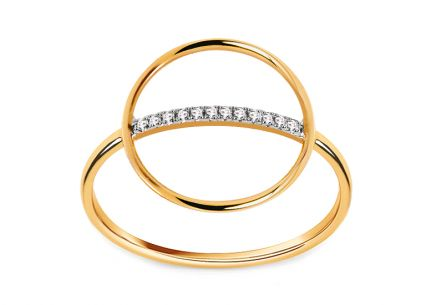Brillant Ring aus der Kollektion Geometric 0,030 ct