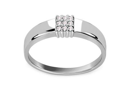 Diamantring 0,050 ct