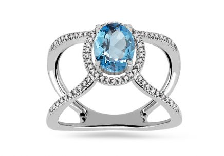 Brillant Ring mit Topas aus der Kollektion Lilly Topaz