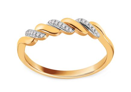 Goldring mit Brillanten 0,060 ct
