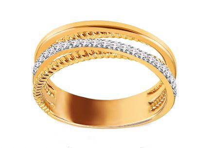 Goldring mit Brillanten 0,250 ct
