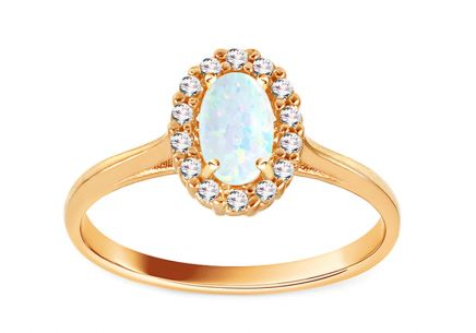 Goldring mit Opal Angelina 8