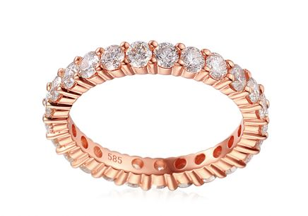 Brillant Eternity Ring aus Roségold 1,590 ct