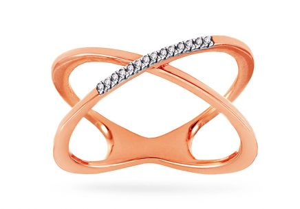 Brillant Ring aus Roségold 0,030 ct Adabele