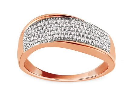 Diamant Ring aus Roségold 0,200 ct Ilide