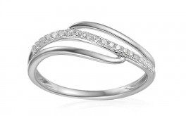 Gold Diamant Ring 0,090 ct Izarra white