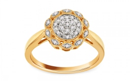 Gold Diamant Ring 0,120 ct Tamera