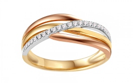 Gold Diamant Ring 0,140 ct Izara