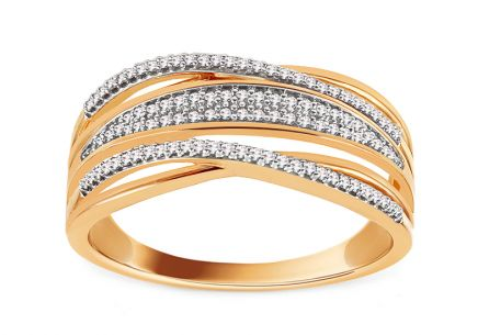 Gold Diamant Ring 0,170ct Vilana