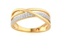 Gold Diamant Ring 0,210 Bebe
