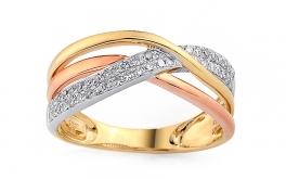 Gold Diamant Ring 0,220 ct Cassy