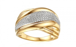 Gold Diamant Ring 0,370 ct Janae