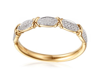 Gold Diamant Ring Salwa