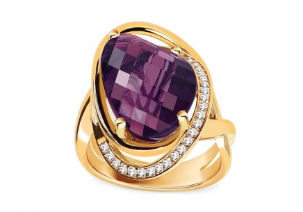 Goldring mit Amethyst aus der Kollektion Ball Season