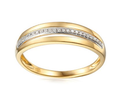 Goldring mit Brillanten 0,080 ct