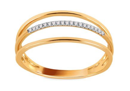 Goldring mit Diamanten 0,040 ct Cheree