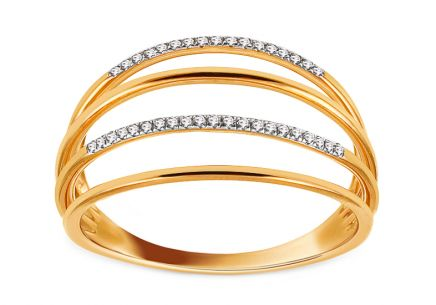 Goldring mit Diamanten 0,080 ct Fabienne
