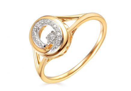 Goldring mit Diamanten 0,140 ct Dancing Diamonds