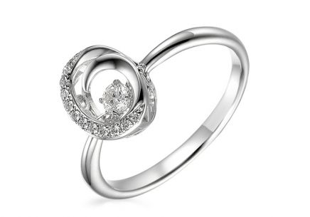Goldring mit Diamanten 0,150 ct Dancing Diamonds