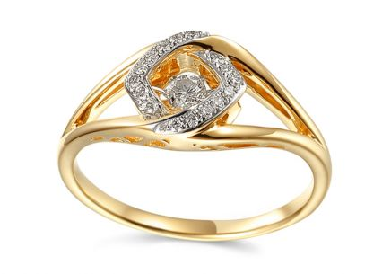 Goldring mit Diamanten 0,170 ct Dancing Diamonds
