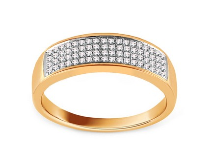 Goldring mit Diamanten 0,220 ct Abdelia