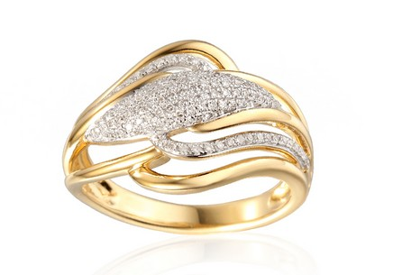 Goldring mit Diamanten 0,290 ct Mauren