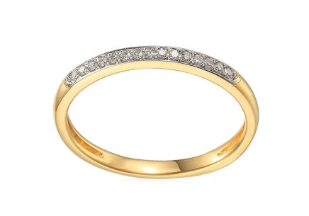 Minimalistischer Brillant Goldring 0,050 ct