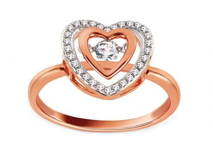 Ring aus Roségold mit Diamanten 0,190 ct Dancing Diamonds